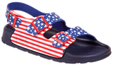 Birki Aruba stars and stripes Birko-flor regular licensed by Birkenstock