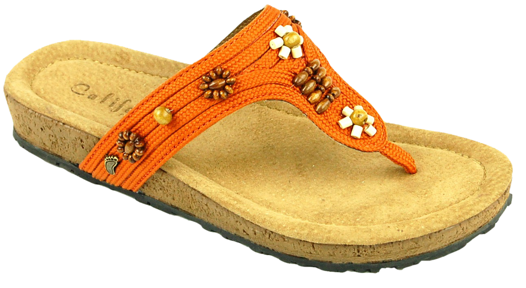 California Ashbury orange leather – Footprints Lawrence