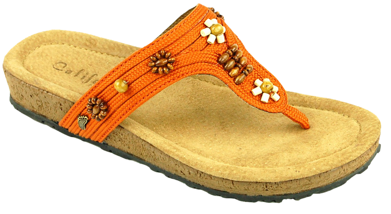California Ashbury orange leather/textile