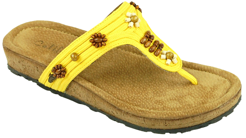 California Ashbury yellow leather/textile