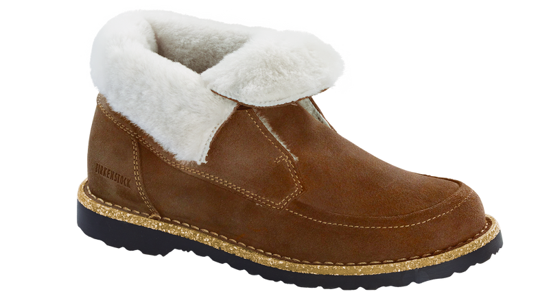 Birkenstock Bakki tea/natural suede shearling