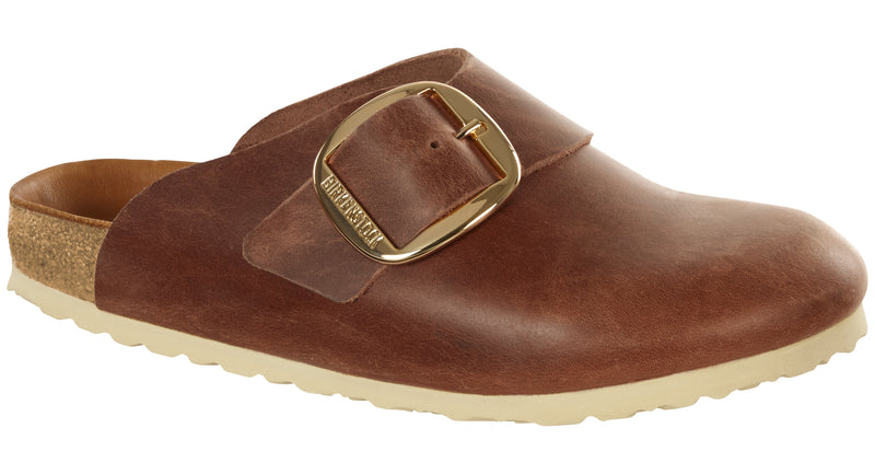 Birkenstock Basel Big Buckle antique cognac leather