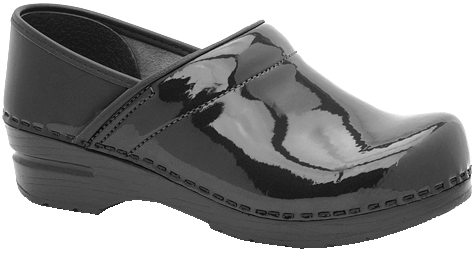 Dansko Professional black patent leather