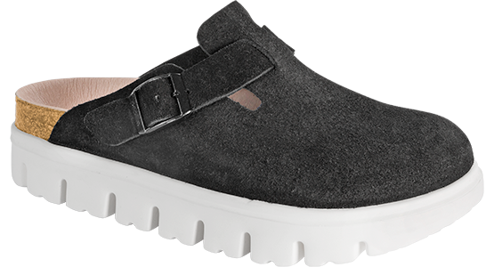 Papillio Boston Chunky black suede by Birkenstock