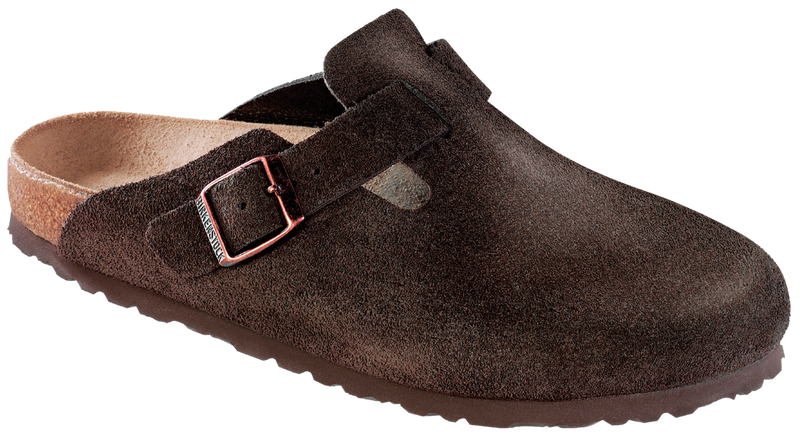 Birkenstock Boston mocha suede (narrow)