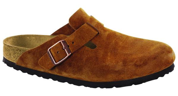 Birkenstock Boston Soft Ftbd Mink Suede Narrow