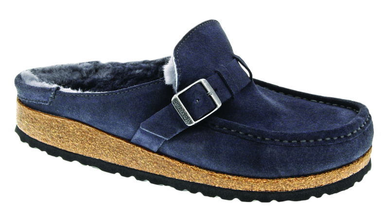 Birkenstock Buckley Shearling graphite suede