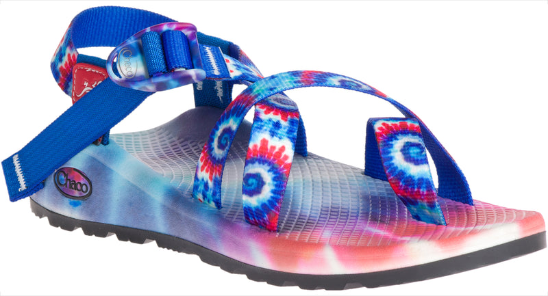 Chaco Women's Tie Dye Z/2 Cloud red-white-blue with printed footbed