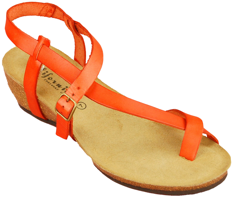 California Clarion orange leather
