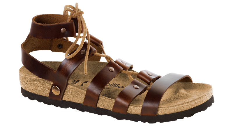 Papillio Cleo cognac leather by Birkenstock