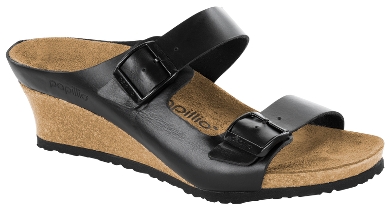 Papillio Emina black leather by Birkenstock