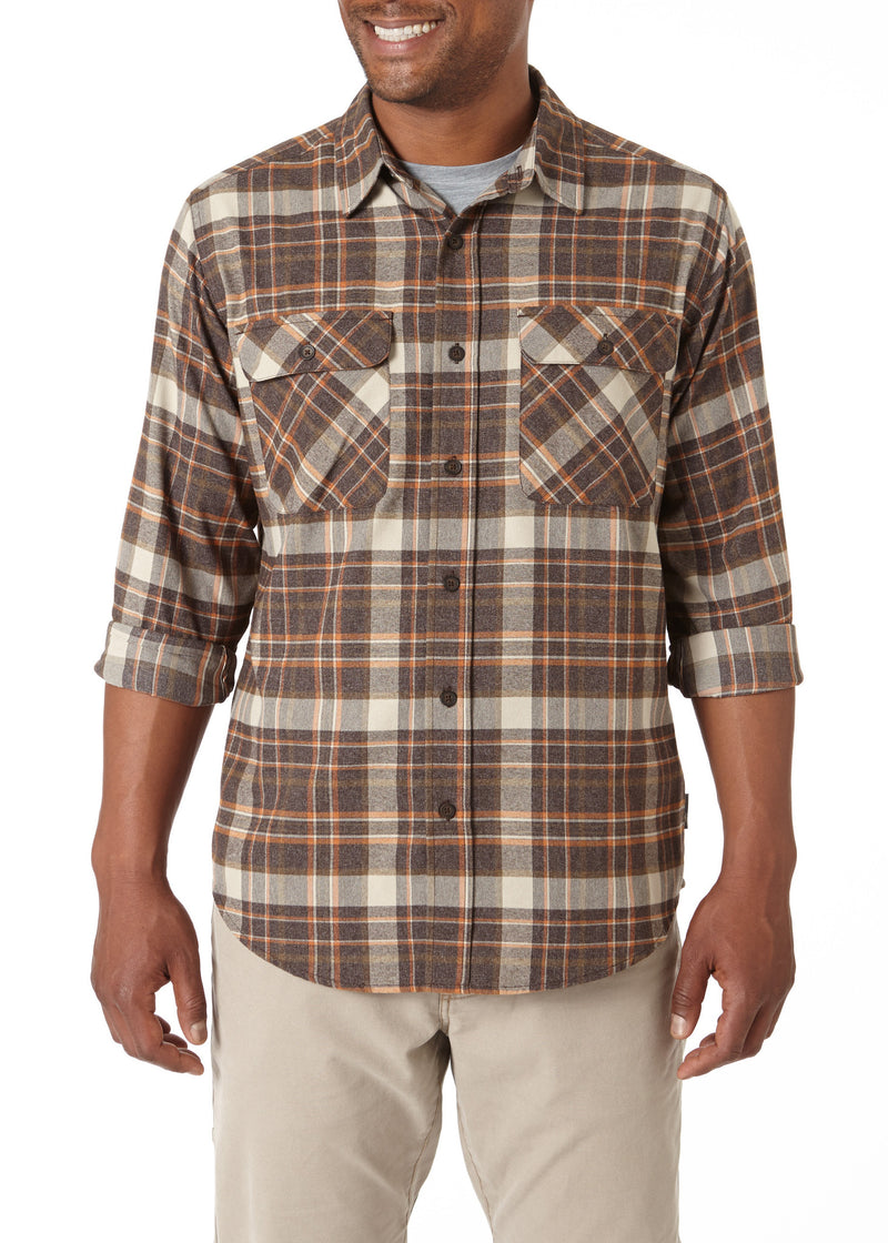 Royal Robbins Men's Performance Flannel Plaid Long Sleeve