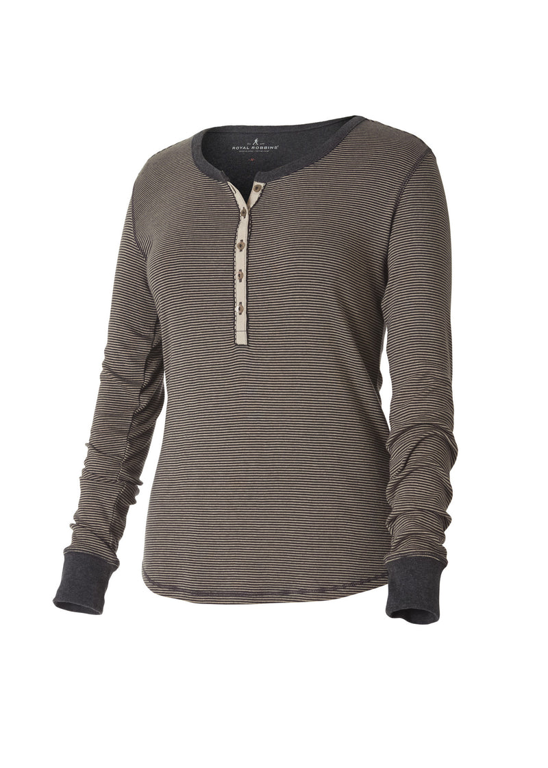 Royal Robbins Women's Kick Back Striped Henley