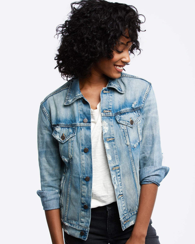 ABLE Women's Merly Wash Denim Jacket
