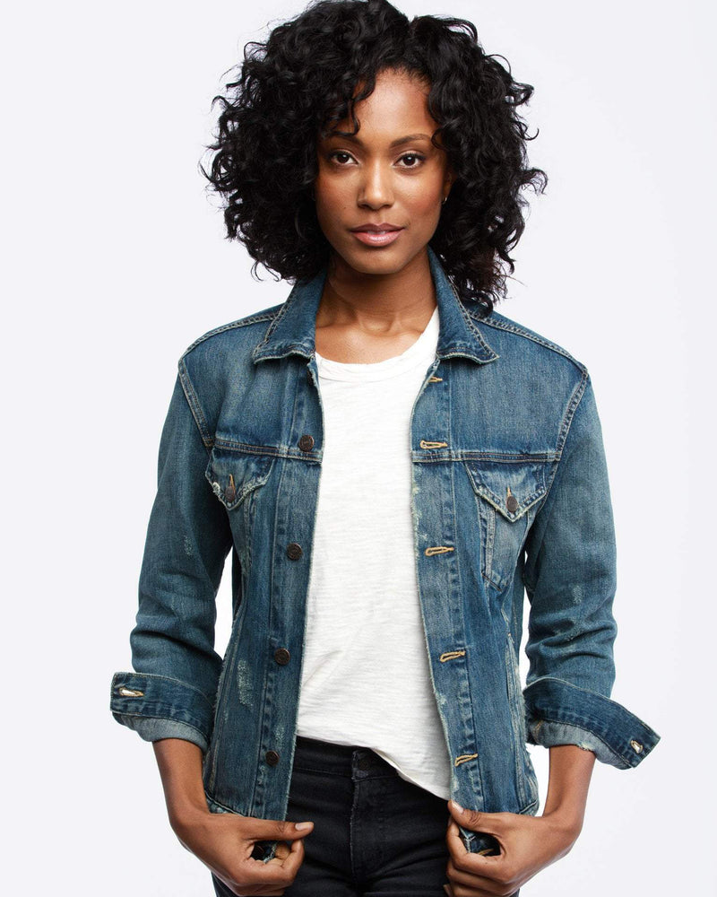 ABLE Women's Mina Wash Denim Jacket