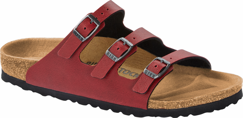 Birkenstock Florida Fresh pull up bordeaux Birko-Flor