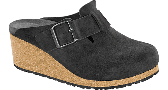 Papillio Fanny anthracite suede by Birkenstock