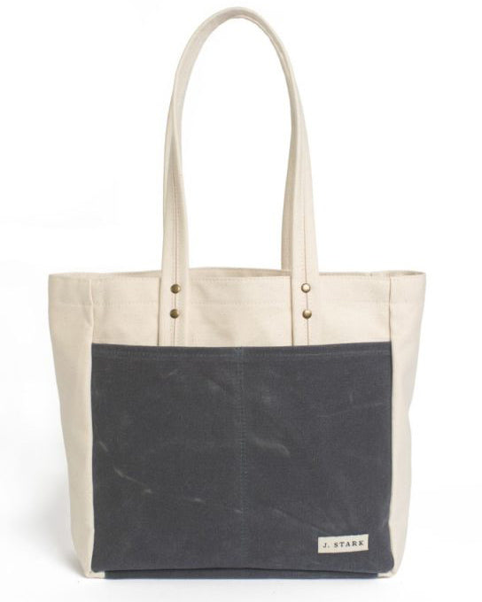 J Stark Franklin Wax Canvas Tote