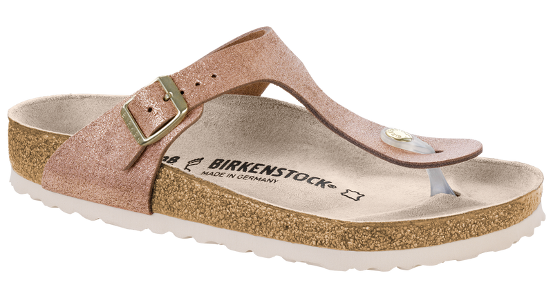 Birkenstock Gizeh washed metallic rose leather