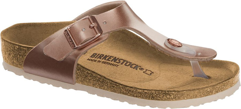 Birkenstock Kid's Gizeh electric metallic copper Birko-Flor