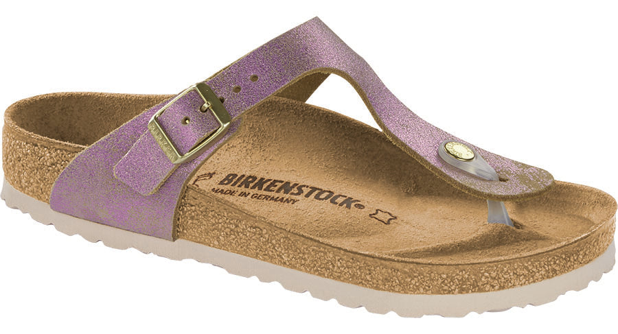 Birkenstock Gizeh washed metallic pink leather