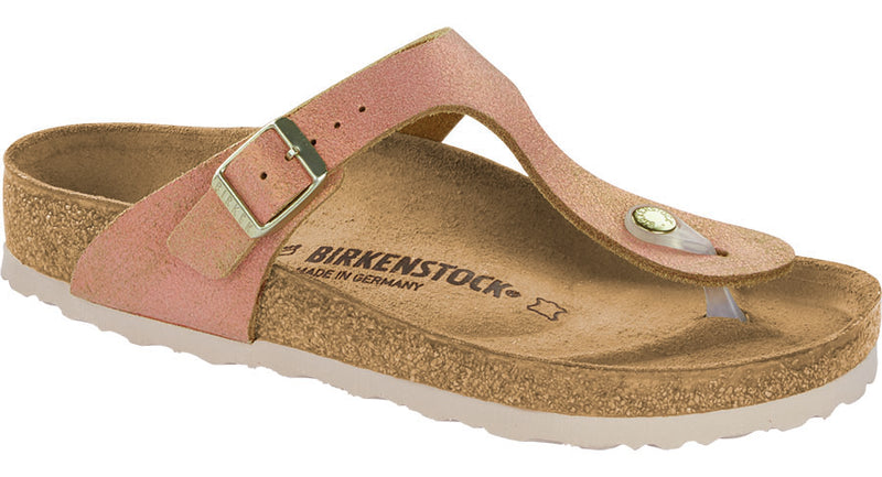 Birkenstock Gizeh washed metallic sea copper leather