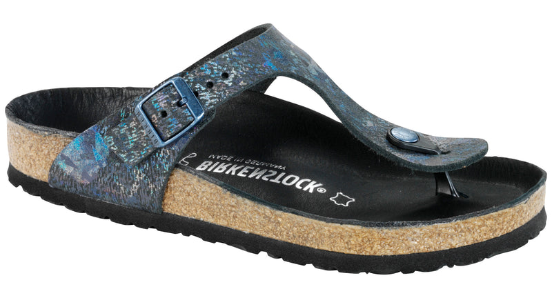 Birkenstock Gizeh Lux spotted metallic black leather