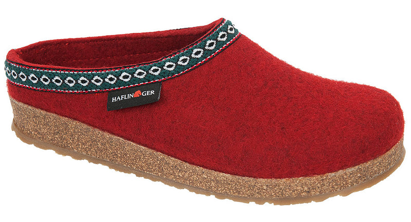 Haflinger GZ Grizzly Clog chili wool felt