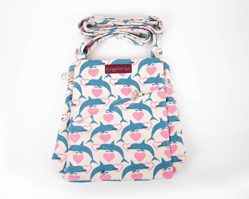 Bungalow 360 Small Messenger Bag Dolphin