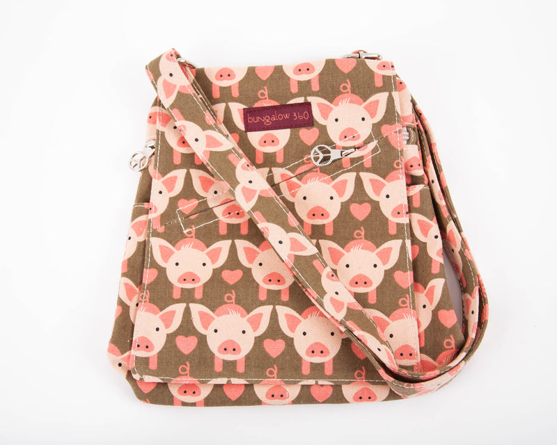 Bungalow 360 Small Messenger Bag Pig