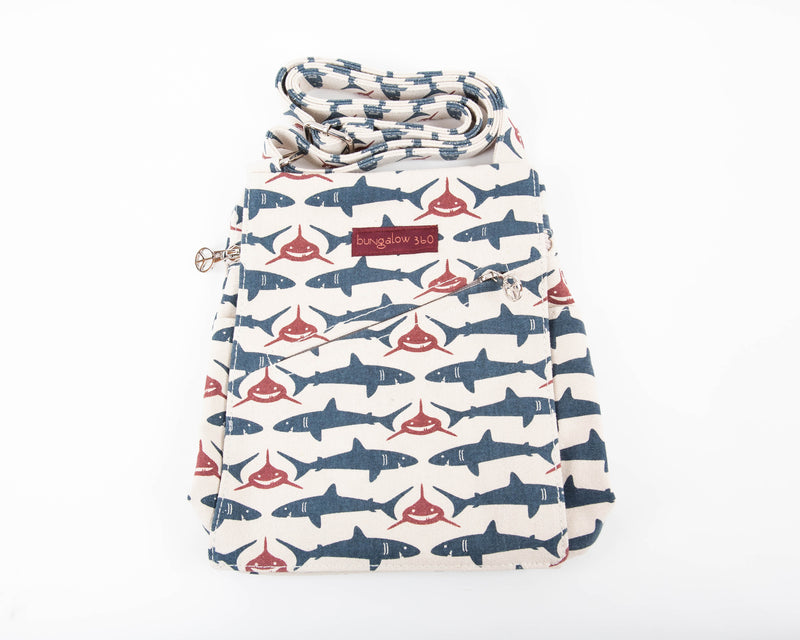 Bungalow 360 Small Messenger Bag Shark