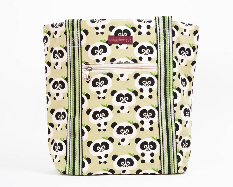 Bungalow 360 Striped Tote Panda