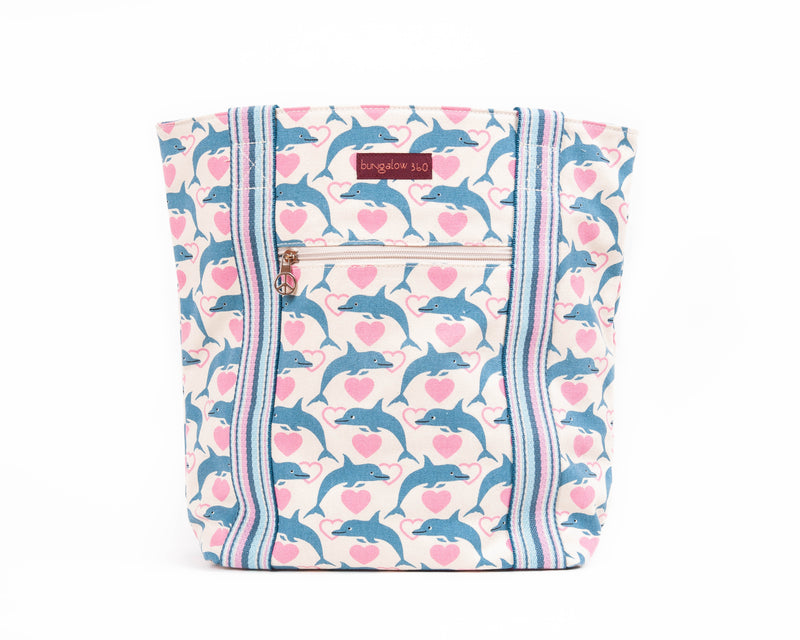 Bungalow 360 Striped Tote Dolphin
