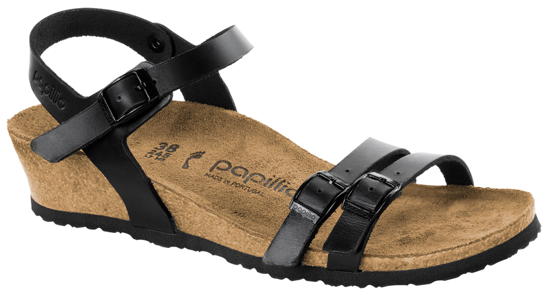 Papillio Lana black leather by Birkenstock