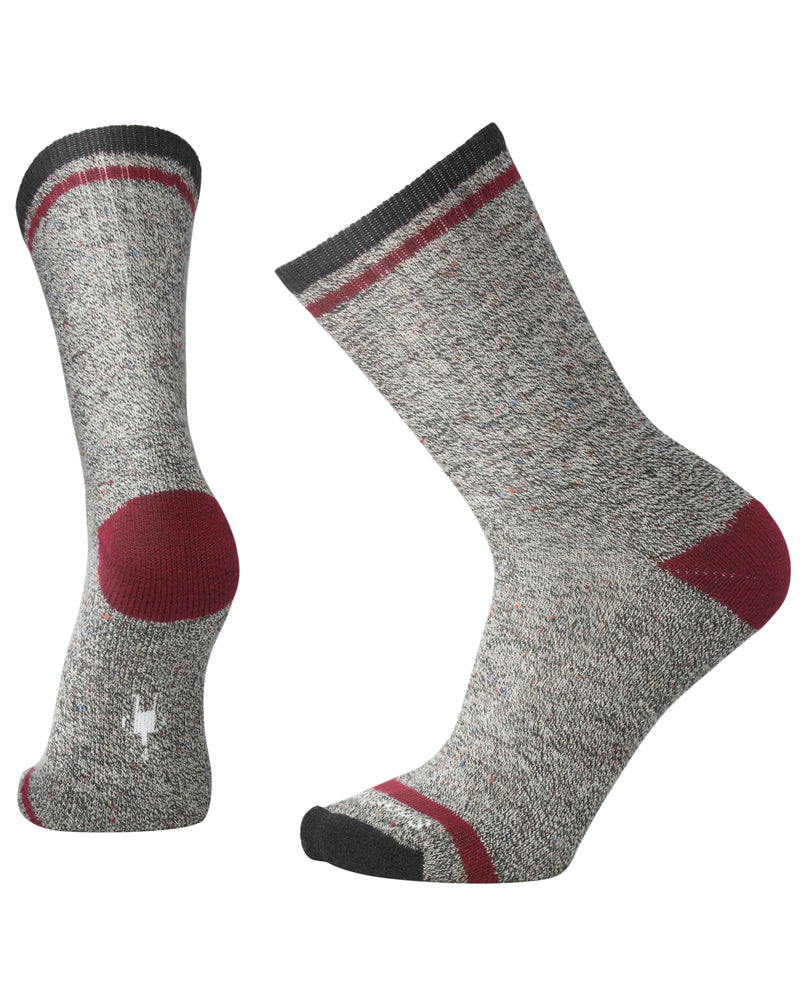 SmartWool Men's Larimer Crew charcoal heather/tibetan red