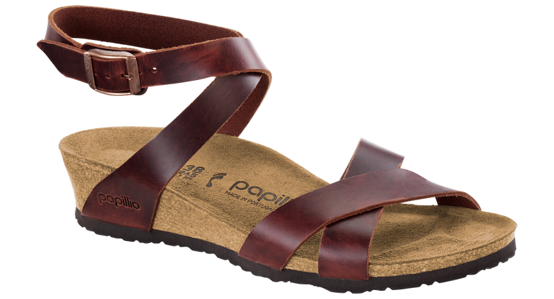 Papillio Lola cognac leather by Birkenstock