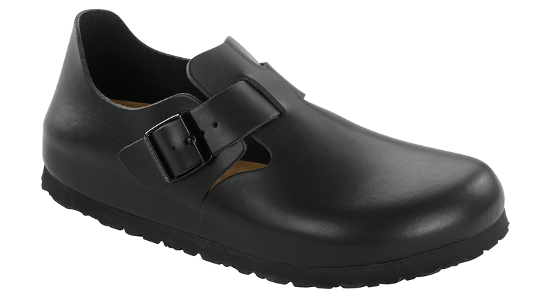 Birkenstock London Soft Ftbd hunter black leather
