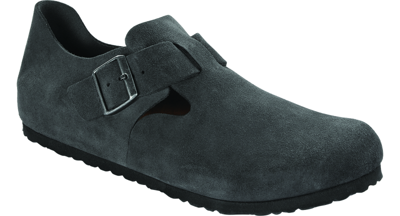 Birkenstock London gun metal suede