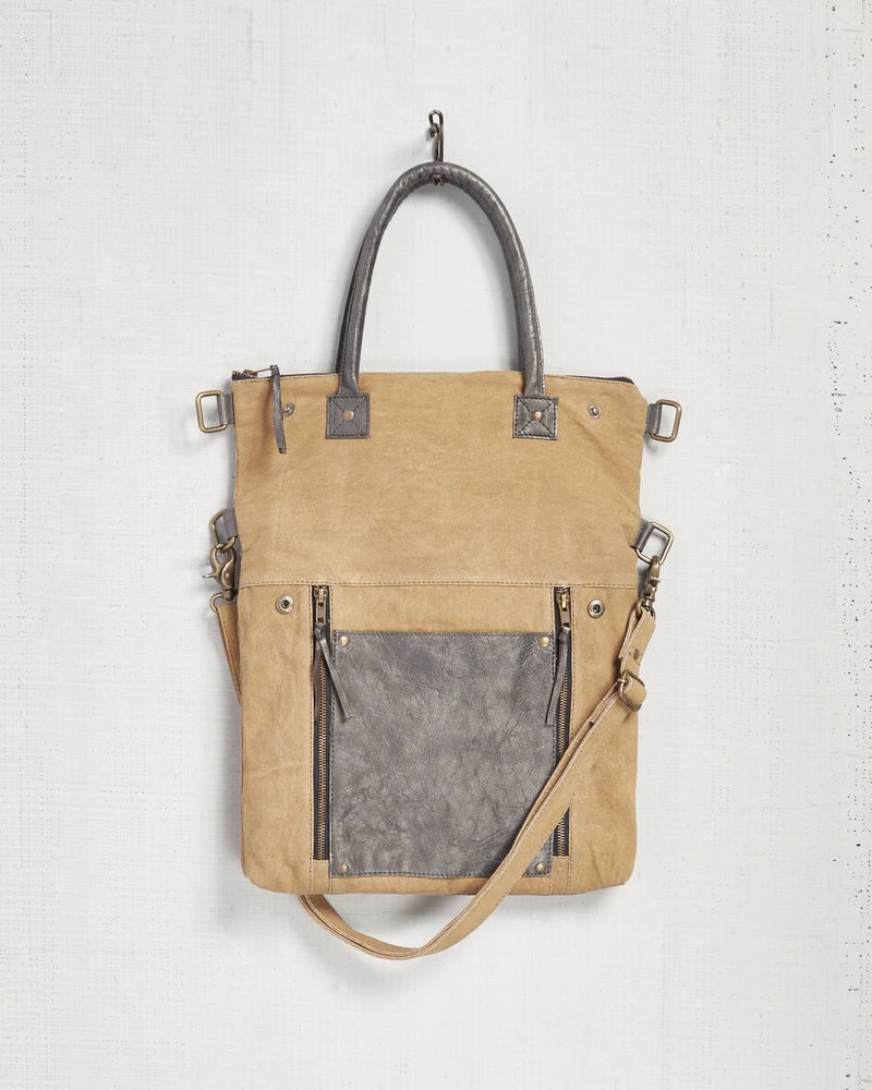Mona B Fold-Over Convertible Tote