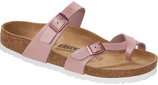Birkenstock Mayari icy metallic old rose Birko-Flor