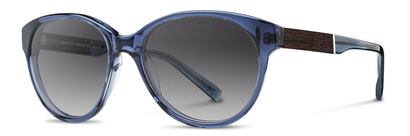 Shwood Madison Sunglasses blue crystal/ebony