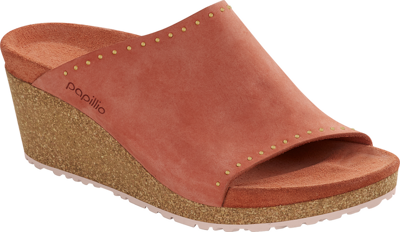 Papillio Namica Rivets earth red nubuck by Birkenstock