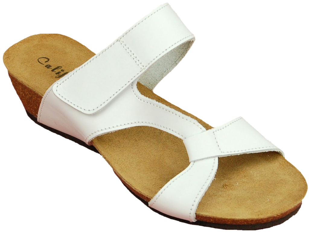 California Noe white leather