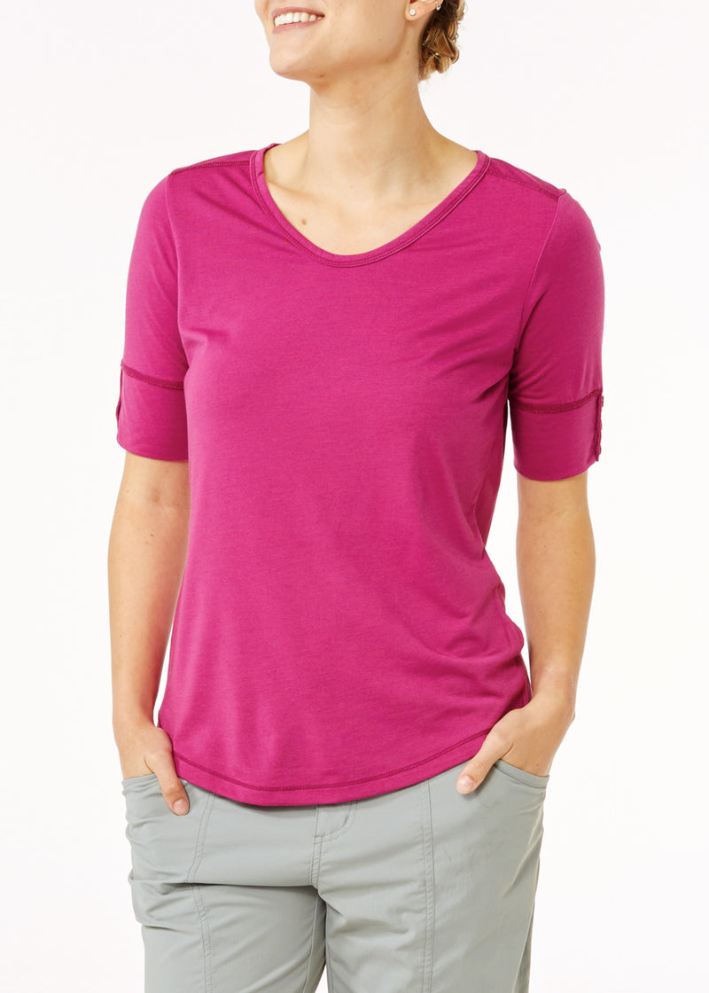Royal Robbins Women's Merinolux V-Neck Tee
