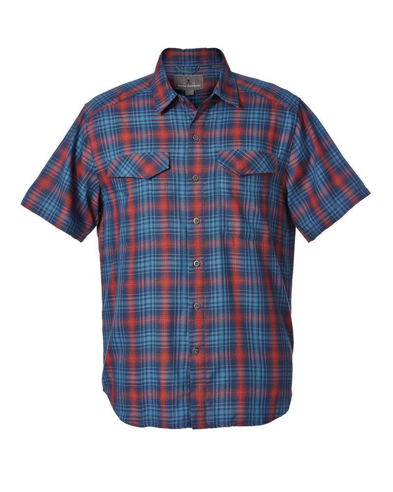 Royal Robbins Merinolux Plaid Short Sleeve
