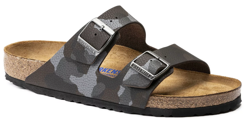 Birkenstock Arizona Soft Footbed desert soil camo brown Birko-Flor