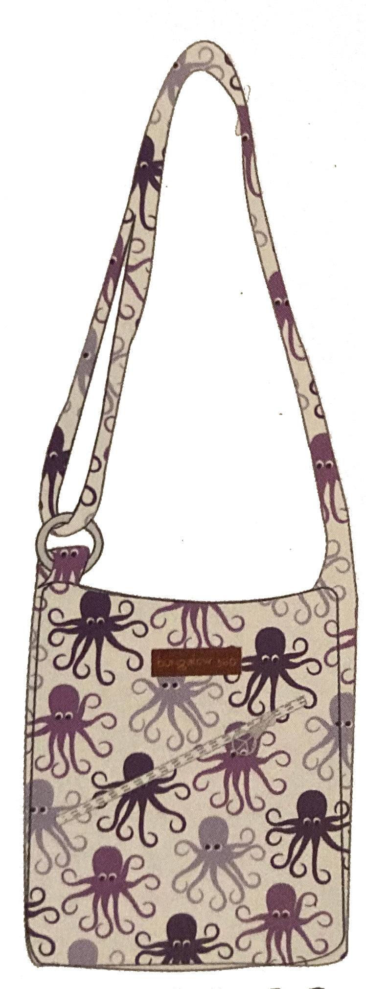 Bungalow 260 Small Messenger Bag Octopus