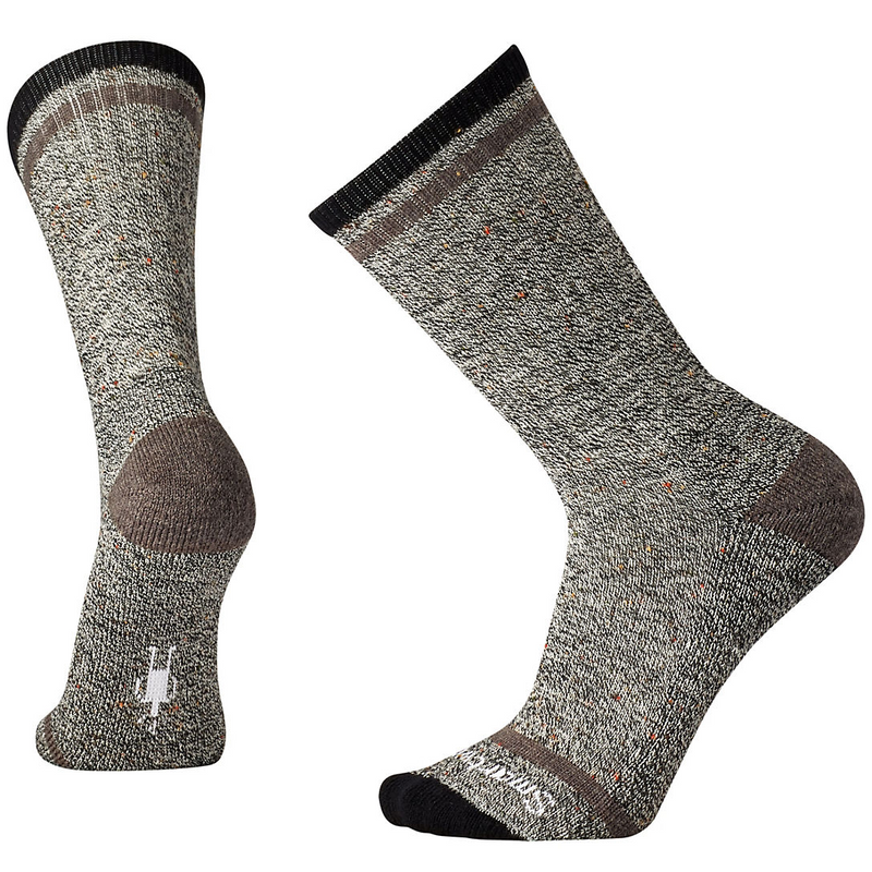SmartWool Men's Larimer Crew black/taupe heather