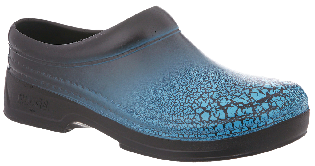 Klogs Springfield sky blue crackle polyurethane