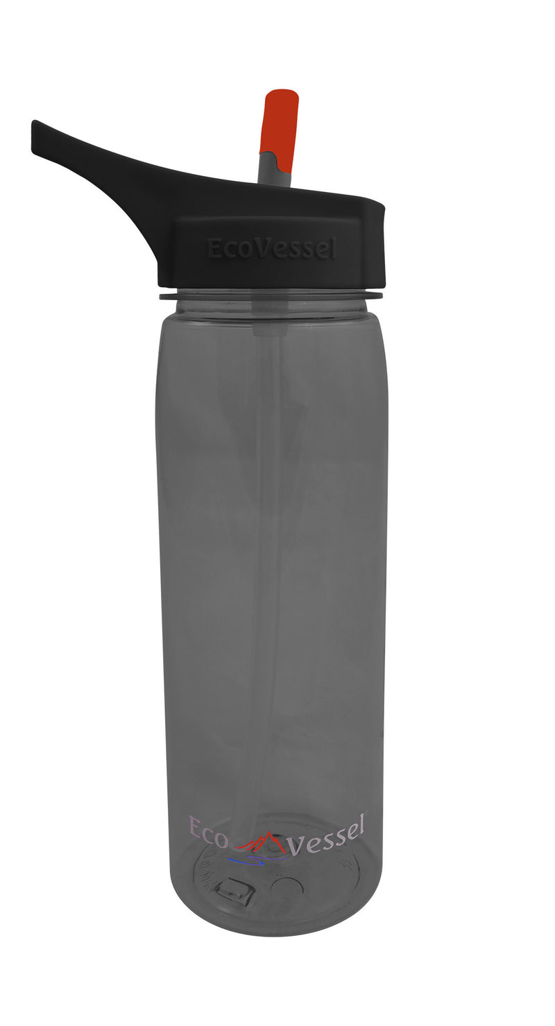 EcoVessel Tritan Plastic Bottle w/ Straw Top - 25 oz.